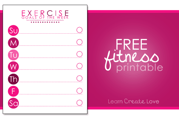 Exercise Printable