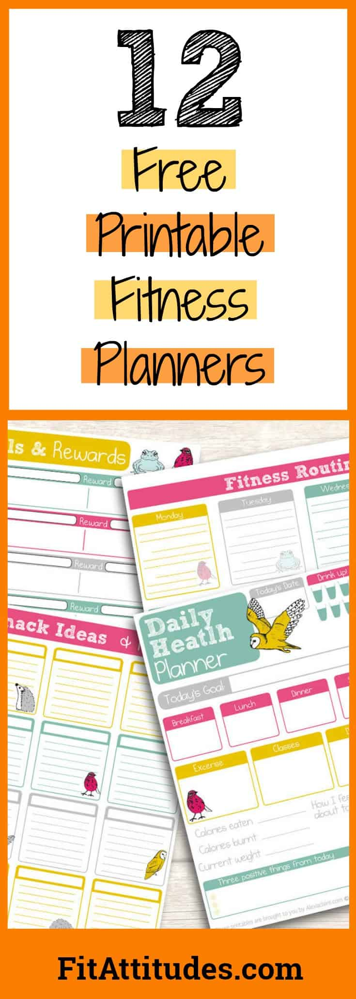 Fitness Planner Free Printables