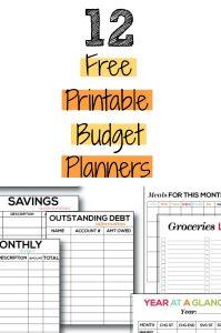 Free Budget Worksheets