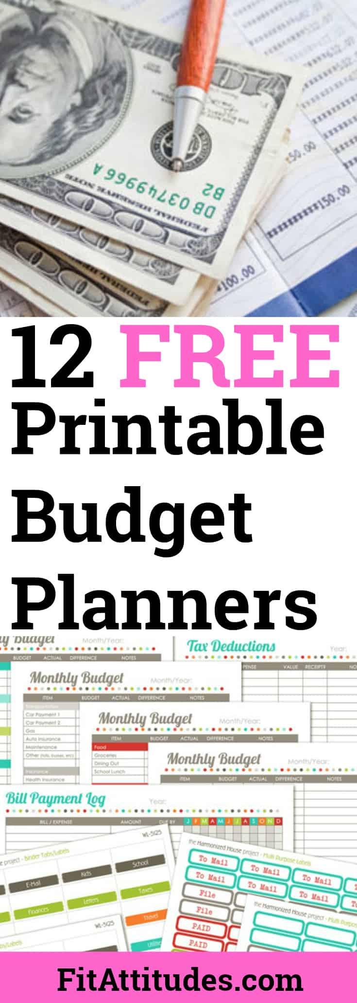 Free Printable Budget Tracker