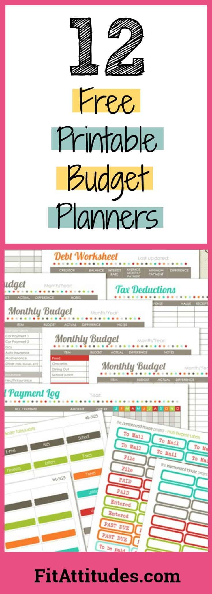 Free Budget Planner Worksheets