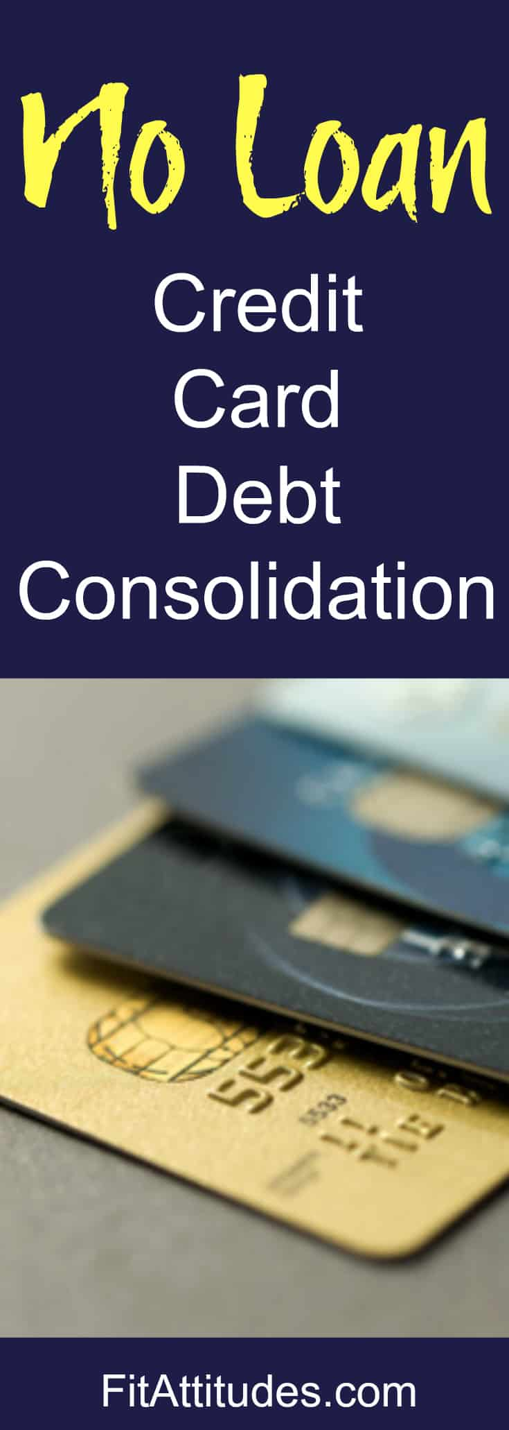 Consolidate credit card debt with this easy no loan method.