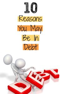 Reasons for Debt...avoid these avoid debt
