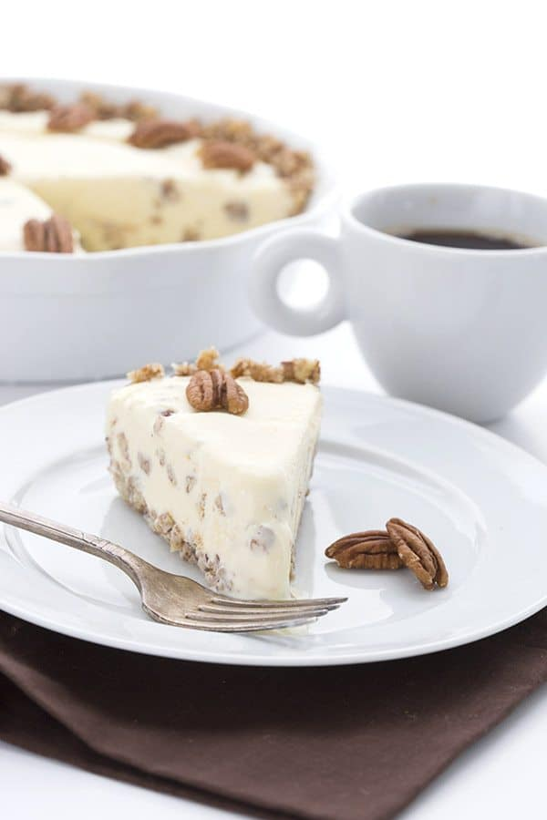 Low Carb Butter Pecan Ice Cream Pie