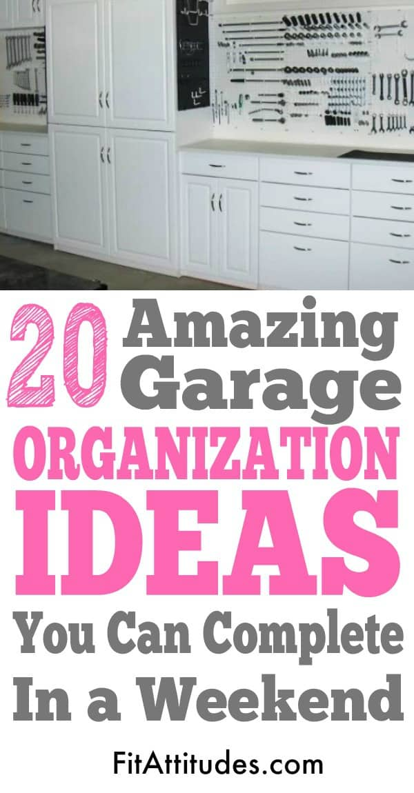 Organize your garage with these quick and easy ideas that you can put together in a weekend.