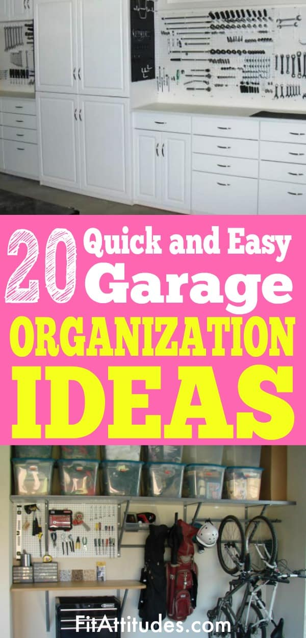 Garage organization ideas that can be done in a weekend.