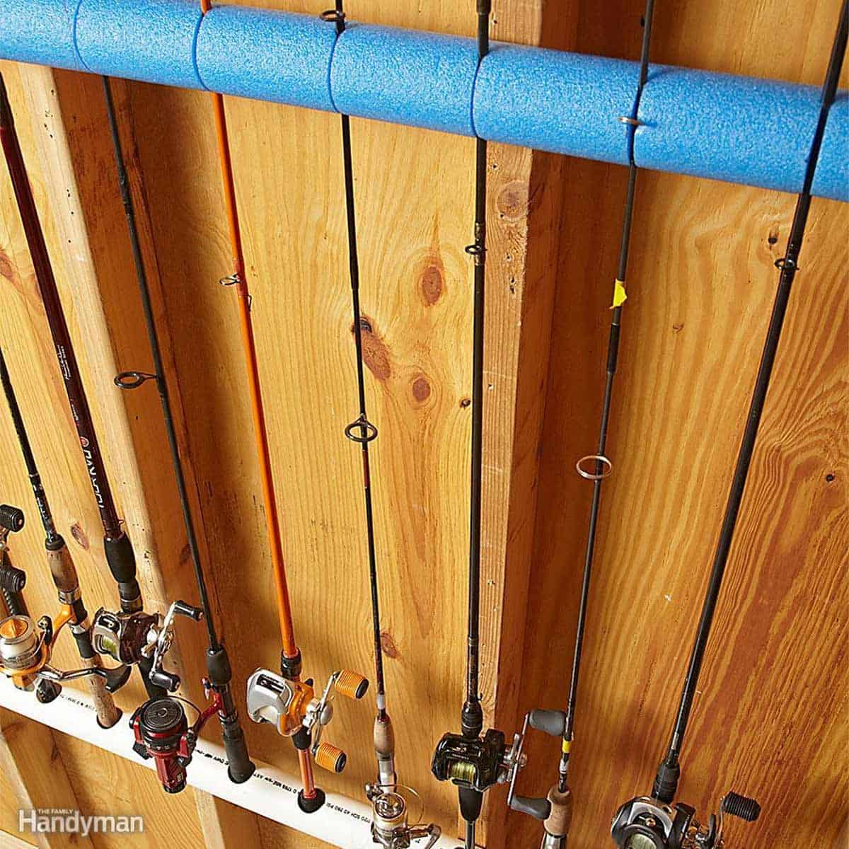 Garage Storage Fishing Poles