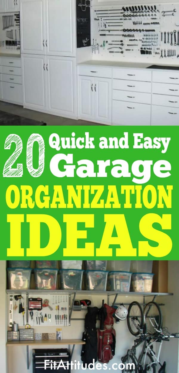 Organize your garage with these quick and easy garage organization ideas.