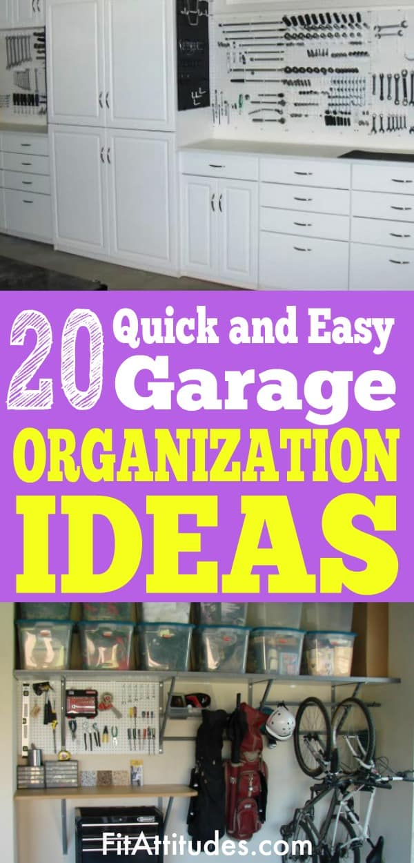 Got a weekend? Organize your garage with these quick and easy ideas.