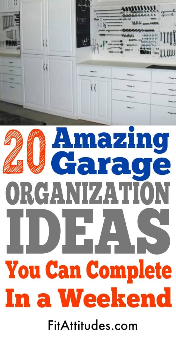 20 Tips for decluttering and reorganizing your garage.