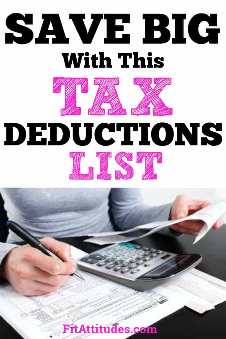 Save with these tax deductions #taxdeductionslist