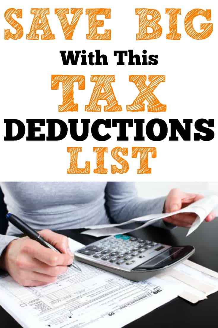 Take Money Off Your Taxes #taxdeductionslist