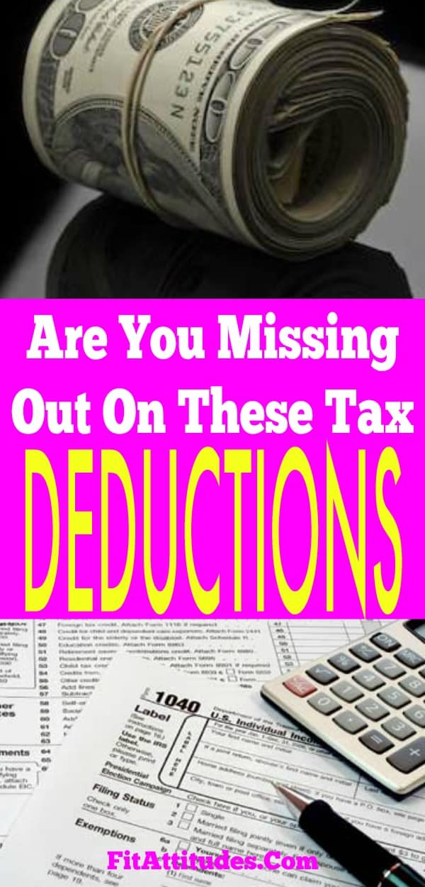Looking for more tax deductions? Do you qualify for any these tax deductions? #taxdeductionslist