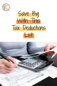 Tax Deductions List