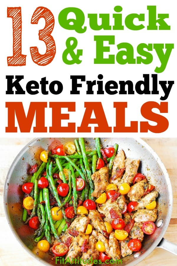 Looking for keto friendly meals that can be made in under an hour?